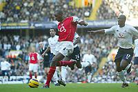 13/11/2004 - FA Barclays Premiership - Tottenham Hotspur v Arsenal - White Hart Lane<br />Ahead of Tottenham's Noe Paramot, Arsenal's Patrick Vieira scores the 3rd goal<br />Photo:Jed Leicester/Back page images