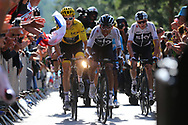 Geraint Thomas (GBR - Team Sky) - Christopher Froome (GBR - Team Sky) during the 105th Tour de France 2018, Stage 14, Saint-Paul-trois-Chateaux - Mende (188 km) on July 21th, 2018 - Photo Kei Tsuji / BettiniPhoto / ProSportsImages / DPPI