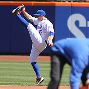 NEW YORK, NEW YORK - APRIL 13: David Wright, New York Mets, warming up before the Miami Marlins Vs New York Mets MLB regular season ball game at Citi Field on April 13, 2016 in New York City. (Photo by Tim Clayton/Corbis via Getty Images)