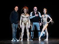 Wayne McGregor, Edward Watson, Manfred Thierry Mugler, and Olga Smirnova at the McGREGOR + MUGLER photocall at the London Coliseum  in advance of the world premiere  London UK - 05 Dec 2019