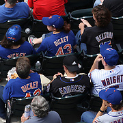 Fans watching R.A. Dickey pitching during his 20th win of the season during the New York Mets v Pittsburgh Pirates regular season baseball game at Citi Field, Queens, New York. USA. 27th September 2012. Photo Tim Clayton