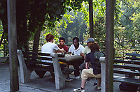 A Chess game in Central Park, New York City