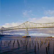 The Astoria–Megler Bridge is a steel girder continuous truss bridge that spans the Columbia River between Astoria, Oregon and Point Ellice near Megler, Washington, in the United States. The span is 14 miles (23 km) from the mouth of the river and was the last segment of U.S. Route 101 between Olympia, Washington and Los Angeles, California. It is the longest continuous truss bridge in North America.