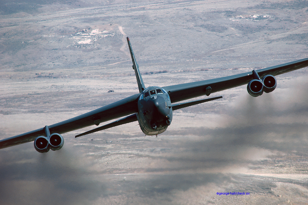 B-52H low-level pass