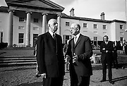Very few visitors to the Aras could top 'The Long Fellow' in height. But here, General de Gaulle manages to do it. .17.06.1969