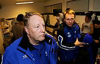 Fotball 29. oktober, tippeligaen, LSK vs Molde, Moldetrener Bo Johansson og Even Hollingen<br /> Foto Kurt Pedersen