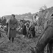 Hungarian army surrendering in Austria, May 1945. Note women and children.