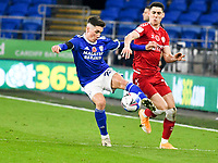 Football -  2020 / 2021 Sky Bet Championship - Cardiff City vs Bristol City - Cardiff City Stadium<br /> <br /> Harry Wilson of Cardiff City & Callum O'Dowda Bristol City<br /> in a match played without fans<br /> <br /> COLORSPORT