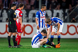 12-05-2018 NED: FC Utrecht - Heerenveen, Utrecht<br /> FC Utrecht win second match play off with 2-1 against Heerenveen and goes to the final play off / (L-R) Pelle van Amersfoort #19 of SC Heerenveen, Reza Ghoochannejhad #9 of SC Heerenveen