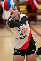 Emma Bredewoud of Apollo 8 in action during the first league match between Laudame Financials VCN vs. Apollo 8 on February 06, 2021 in Capelle aan de IJssel.