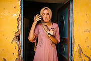 Noha getting prepared to be engaged, doing Henna, a tradition to dye skin & fingernails for cosmetic purposes