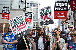 London, UK. 30th March, 2019. Pro-Palestinian campaigners attend a Rally for Palestine outside the Israeli embassy to demand freedom, justice and equality for the Palestinian people. The rally was organised by Palestine Solidarity Campaign, Stop the War Coalition, Palestinian Forum in Britain, Friends of Al- Aqsa and Muslim Association of Britain.