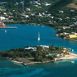 aerial  view of St. Croix, USVI