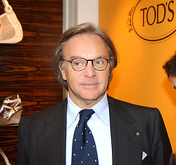 "DIEGO DELLA VALLE President of Tod's at a book signing hosted by Tod's for Dante Ferretti's new book 'The Art of Production Design"" held at the Tod's store, 2/3 Old Bond Street, London on 19th April 2005.<br />