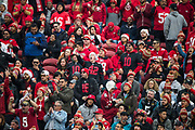 San Francisco 49ers fans cheer during a NFL game against the Jacksonville Jaguars at Levi's Stadium in Santa Clara, Calif., on December 24, 2017. (Stan Olszewski/Special to S.F. Examiner)