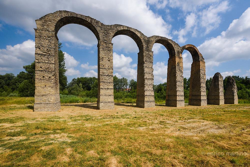 Acqui Terme, the Roman aqueduct.