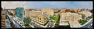 Panoramic Photograph of Georgetown Law School campus on Capitol Hill in Washington, DC.  Includes view of U.S. Capitol.  Print Size (in inches): 15x4.5; 24x7; 36x11; 48x14.5; 60x18; 72x22
