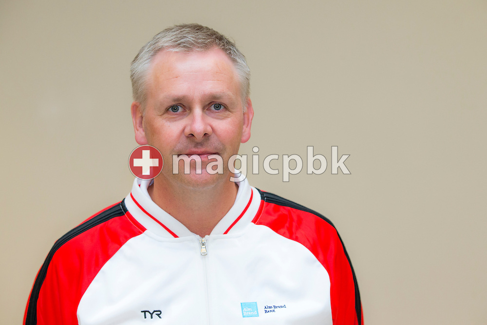 Denmark's coach Eyleifur Johannesson poses for a photo after the LEN European Swimming Championships at Europa-Sportpark in Berlin, Germany, Sunday, Aug. 24, 2014. (Photo by Patrick B. Kraemer / MAGICPBK)