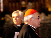 14:05 Cardinal Miloslav Vlk - the head of the Czech Catholic Church and the archbishop of Prague - during a ceremony before christmas at the St. Vitus Cathedral in Prague.