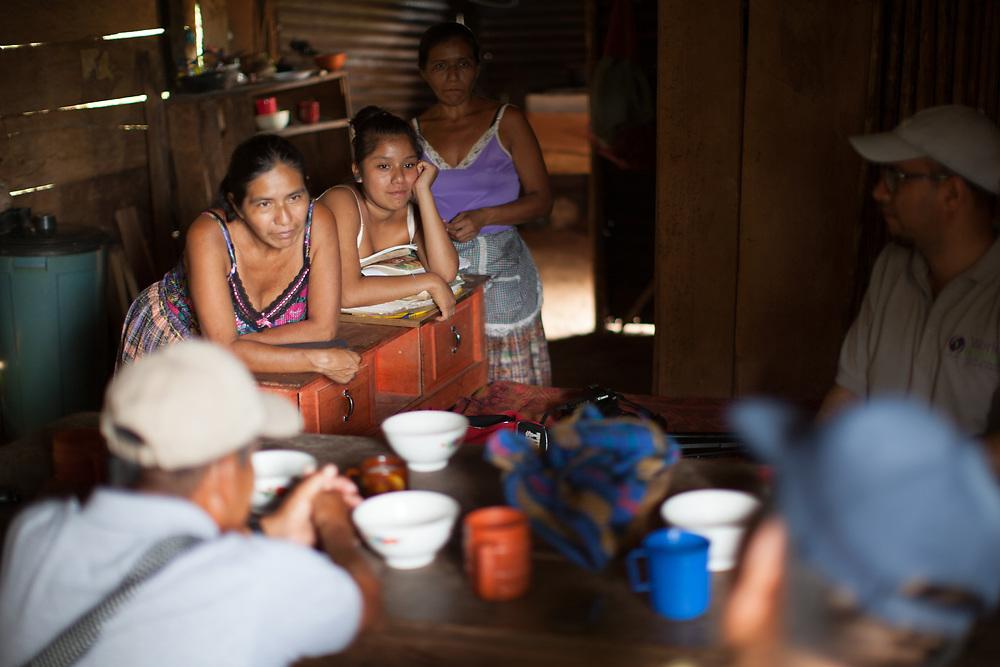 Simona, Ingrid and Juana at home in Concepción Actelá, Alta Verapaz. World Renew is beginning to work in Concepción Actelá, through its Guatemalan partner ADIP.