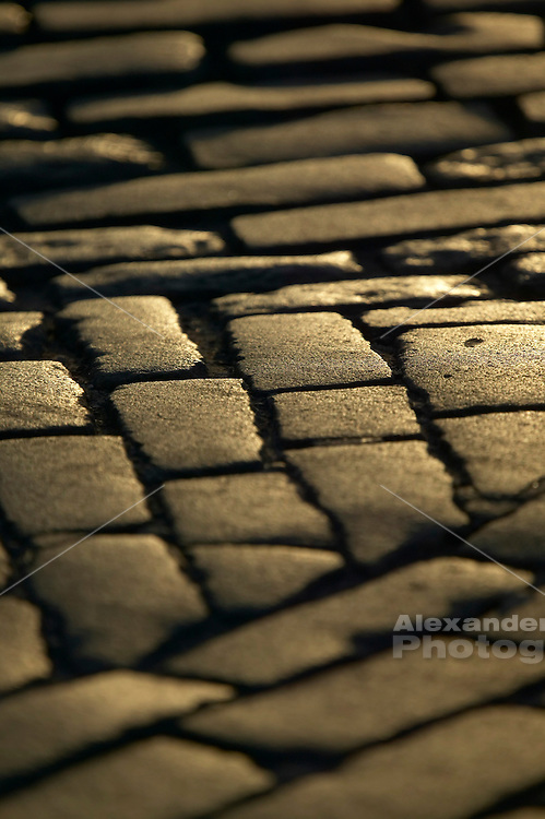 Newport, RI - Cobble Stone paving on Thames Street