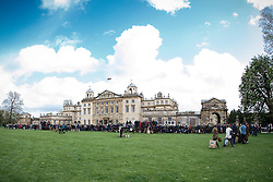 First horse inspection in front of Badminton House<br /> Mitsubishi Motors Badminton Horse Trials - Badminton 2015<br /> © Hippo Foto - Libby Law<br /> 06/05/15