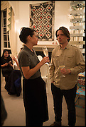 JEREMY DELLER, Frieze dinner  hosted at by Valeria Napoleone for  Marvin Gaye Chetwynd, Anne Collier and Studio Voltaire 20th anniversary autumn programme. Kensington. London. 14 October 2014.