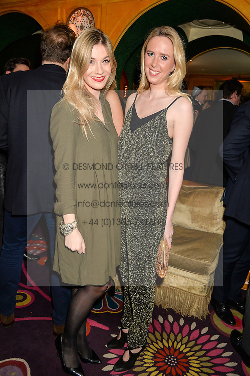 Left to right, ALEX PRESCOT and DAISY BELL at the 2nd Bright Young Things Back In London party held at Annabel's, 44 Berkeley Square, London on 11th February 2016.