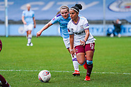 West Ham United Women forward Jacynta Galabadaarachchi (15) in action during the FA Women's Super League match between Manchester City Women and West Ham United Women at the Sport City Academy Stadium, Manchester, United Kingdom on 17 November 2019.