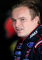 April 27, 2018 - Talladega, AL, U.S. - TALLADEGA, AL - APRIL 27:  Cole Custer, Stewart-Haas Racing, Ford Mustang Haas Automation looks on during practice for the NASCAR Xfinity Series Sparks 300 race on April 27, 2018, at the Talladega Superspeedway in Talladega, AL.  (Photo by David John Griffin/Icon Sportswire) (Credit Image: © David J. Griffin/Icon SMI via ZUMA Press)