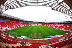 A general view of the Aesseal New York Stadium, home to Rotherham United - Mandatory by-line: Ryan Crockett/JMP - 17/10/2020 - FOOTBALL - Aesseal New York Stadium - Rotherham, England - Rotherham United v Norwich City - Sky Bet Championship