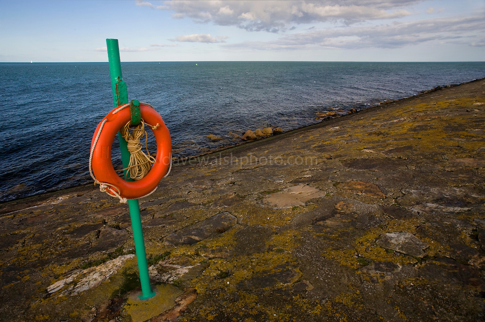 Experiments in perspective #1: Lifeing and horizon, Howth Harbour Dublin