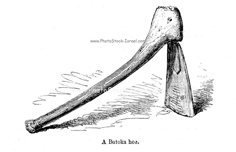 Batoka Hoe From the book ' Missionary travels and researches in South Africa ' by Livingstone, David, 1813-1873; Arnot, Fred. S. (Frederick Stanley), 1858-1914; Published in London by J. Murray in 1899