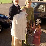 Doop Claus-Casimir Apeldoorn, Prins Constatijn met zoon Claus - Casimir, prinses Laurentien en dochter Eloise
