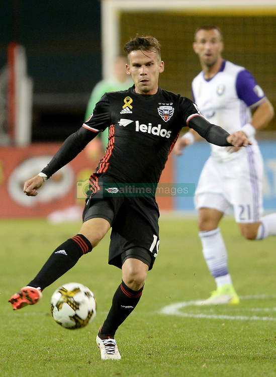 September 9, 2017 - Washington, DC, USA - 20170909 - D.C. United forward ZOLTAN STIEBER (19) looks to make a pass to a teammate in the second half against Orlando City FC at RFK Stadium in Washington. (Credit Image: © Chuck Myers via ZUMA Wire)
