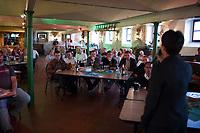DEU, Deutschland, Germany, Freital, 21.08.2014:<br />Die Landesvorsitzende der AfD in Sachsen, Dr. Frauke Petry, während einer Wahlveranstaltung der Partei Alternative für Deutschland (AfD) im Weingut Pesterwitz in Freital.