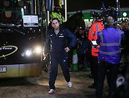 England's Gary Neville arrives<br /> <br /> - International Friendly - Scotland vs England- Celtic Park - Glasgow - Scotland - 18th November 2014  - Picture David Klein/Sportimage