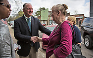 Louisiana Gov. John Bell Edwards shaking environmental scientist Wilma Subra in St. Joseph. Edwards was in St. Jospeh, a Delta town, during the ground breaking ceremony for St. Joseph's new water system on March 6, 2017.