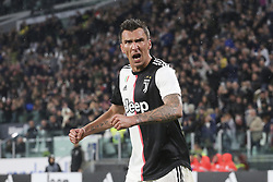 May 19, 2019 - Turin, Piedmont, Italy - Mario Mandzukic (Juventus FC) celebrates after scoring during the Serie A football match between Juventus FC and Atalanta BC at Allianz Stadium on May 19, 2019 in Turin, Italy. (Credit Image: © Massimiliano Ferraro/NurPhoto via ZUMA Press)