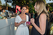 ROXIE NAFOUSI, Serpentine's Summer party co-hosted with Christopher Kane. 15th Serpentine Pavilion designed by Spanish architects Selgascano. Kensington Gardens. London. 2 July 2015.