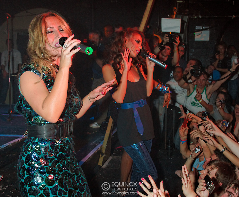 London, United Kingdom - 19 October 2008.Sugababes performing at gay club G-A-Y at Heaven nightclub, Charing Cross, London, UK. This was the first live show at G-A-Y since its move from the London Astoria to Heaven nightclub..(photo by: EDWARD HIRST/EQUINOXFEATURES.COM)..Picture Data:.Photographer: EDWARD HIRST.Copyright: ©2008 Equinox Licensing Ltd. - +448700 780000.Contact: Equinox Features.Date Taken: 20070701.Time Taken: 015720+0000.www.newspics.com