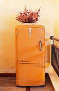 A classic design Siam Sello de Oro Gold Seal refrigerator fridge 1950s 1950 50s 50 design Bodega Del Anelo Winery, also called Finca Roja, Anelo Region, Neuquen, Patagonia, Argentina, South America
