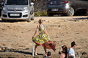 IBIZA, SPAIN, 2016, AUGUST 01 <br /> <br /> Paris Hilton, enjoy the atmosphere in Ibiza The artist has come To Ibuza for work, Accompanied by several friends and friends enjoyed a fun lunch at a local acquaintance of the island. Paris, very pretty with a long dress with ethnic and ned playful, something that goes well with the artist .<br /> ©Exclusivepix Media
