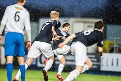 Falkirk's Mark Millar scoring their penalty.<br /> Falkirk 1 v 1 Morton, Scottish Championship game today at The Falkirk Stadium.<br /> © Michael Schofield.