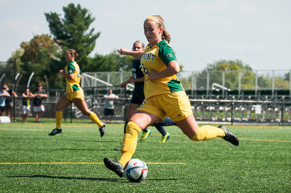 The women's soccer game between the Quinnipiac Bobcats and the Vermont Catamounts during the final day of the TD Bank Classic at Virtue Field on Sunday September 6, 2015 in Burlington, Vermont.
