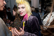PAM HOGG;, Launch of Stephanie Theobald's book' A Partial Indulgence'  drinks provided by Ruinart champage nd Snow Queen vodka. The Artesian at the Langham, 1c Portland Place, Regent Street, London W1<br /> PAM HOGG;, Launch of Stephanie Theobald's book' A Partial Indulgence'  drinks provided by Ruinart champage nd Snow Queen vodka. The Artesian at the Langham, 1c Portland Place, Regent Street, London W1 *** Local Caption *** -DO NOT ARCHIVE-© Copyright Photograph by Dafydd Jones. 248 Clapham Rd. London SW9 0PZ. Tel 0207 820 0771. www.dafjones.com.