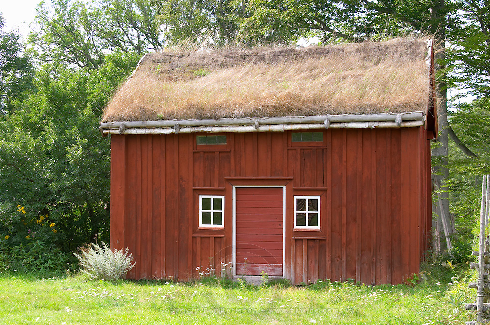 An outhouse at the farm Where Linnaeus was born The farm at Rashult where Linnaeus was born. Smaland region. Sweden, Europe.