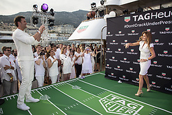 Tom Brady, Geri Hallivell attend the Tag Heuer gala night (Don't crack under pressure) aboard a boat at Port Hercule during the 76th Grand Prix of Monaco in Monaco, on may 26, 2018. Photo by Marco Piovanotto/ABACAPRESS.COM