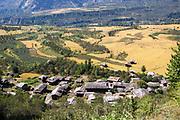 Manali Village and area landscape, Kullu Valley Himachal Pradesh, India