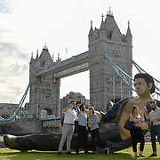 Jeff Goldblum's glorious semi-naked torso in Potters Field, London, UK
